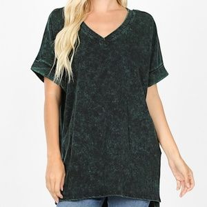 Green Mineral Wash Zenana Top